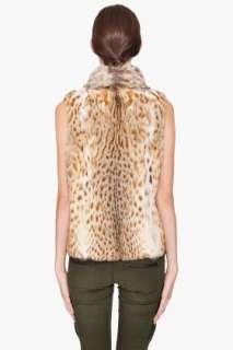 Haute Hippie Bobcat Fur Vest for women
