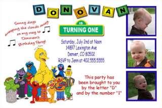 Custom Sesame Street Elmo Birthday Invitations