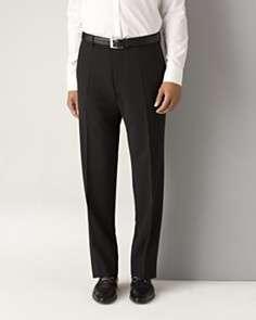 BOSS Black Mens James Brown Black Flat Front Trousers