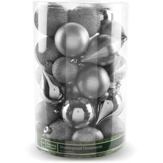 Walmart Holiday Time 35 Piece Shatterproof Christmas Ornaments