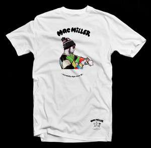 Mac Miller Custom T Shirt   new hip hop taylor gang ymcmb whiz khalifa