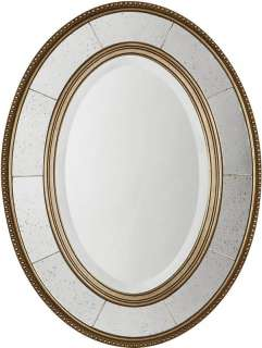 LARA SILVER GOLD Wall Vanity MIRROR ANTIQUED CHAMPAGNE FINISH French