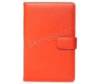 For Nook Tablet / Nook Color Orange Leather Case Cover Jacket