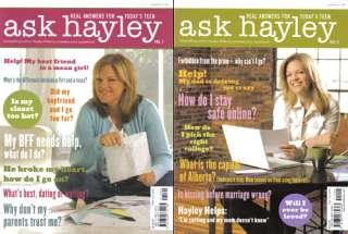 Lot of 2 NEW Christian Teen Magazines Ask Hayley Volume 1+2   Hayley