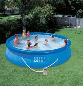 INTEX 15 x 36 Easy Set Swimming Pool Set with 1000 GPH Pump