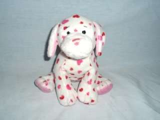 WEBKINZ LOVE PUPPY dog white w red pink hearts PLUSH ONLY NO CODE