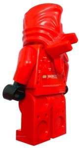Lego Kai Mini Fig Figure Alarm Table Clock Red 9003097 New