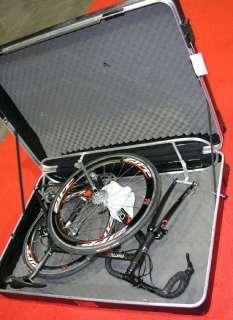 Largest Pro Bike Travel Case ABS hard shell 4 wheels