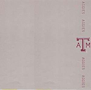Texas A&M Border Scrapbooking Paper   1 sheet #1541 0696831015414