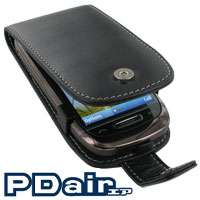 PDair Genuine Leather Case for Nokia C7   Flip Type (Black)