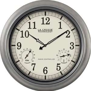 18 inch Outdoor Atomic Clock  Thermometer   Hygrometer by