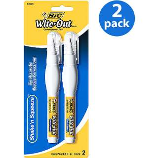 Wite Out ShakenSqueeze Correction Pen, White, 2 Ct., 2 Pack: Office