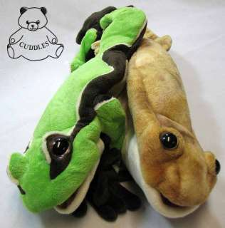 Tadpole Frog Reversible Hand Puppet Folkmanis Plush Toy Stuffed Animal