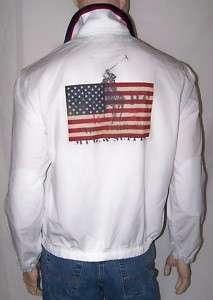 Ralph Lauren WHITE BIG PONY USA FLAG JACKET NWT XXL