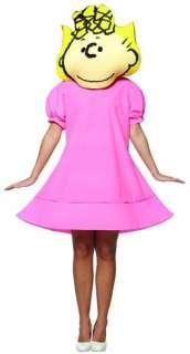 Peanuts Comics Charlie Brown Sally Pink Dress Costume Adult Standard