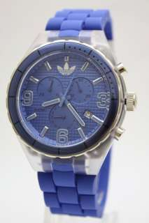 Cambridge Men Originals Chrono Blue Rubber Band Watch Date 45mm DH2532