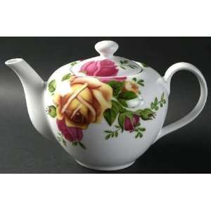 Royal Albert Country Rose Tea Pot & Lid, Fine China