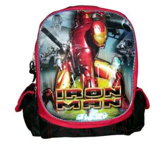 Marvel Heroe Iron Man School Book Kids Boy Backpack Bag