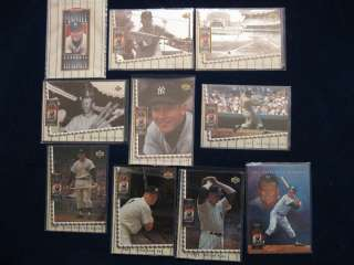 UPPER DECK MICKEY MANTLE HEROES COMPLETE 10 CARD SET BOOK VALUE $80.00
