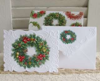 Carol Wilson Winter Wreaths Boxed Set Note Cards 10ct 095372723671
