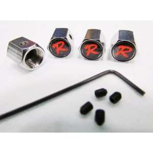Type R Anti Theft Tire Valve Caps set of 4 Automotive